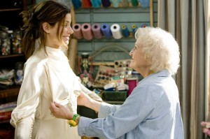 "Betty White gropes Sandra Bullock's ""easter eggs."""
