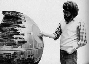 I'll poke this Death Star's pruney, just like I poked all the fans! Muhahaha!