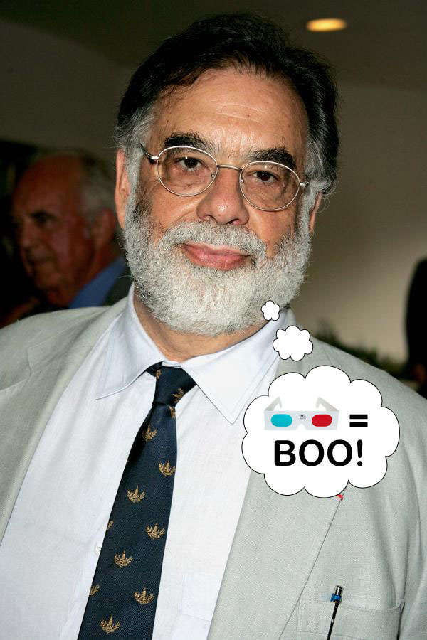 Francis Ford Coppola and his beard both hate 3-D